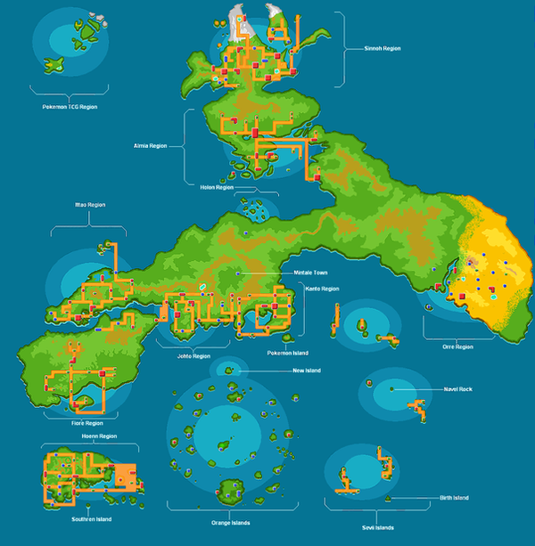 Pokemon World map 2 by hinata192 on DeviantArt