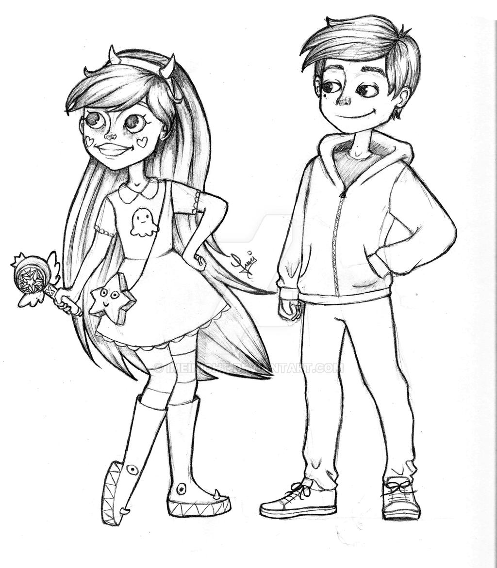 Star Butterfly and Marco Diaz by Imeinight