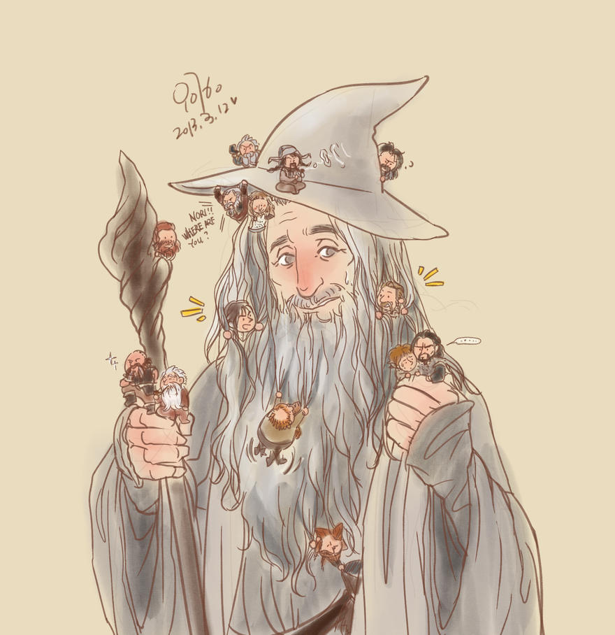 little dwarves and tiny hobbit by innocence777