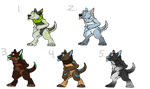 (REUPLOAD) $5/500 point Anthro Wolves (4/5 open!)