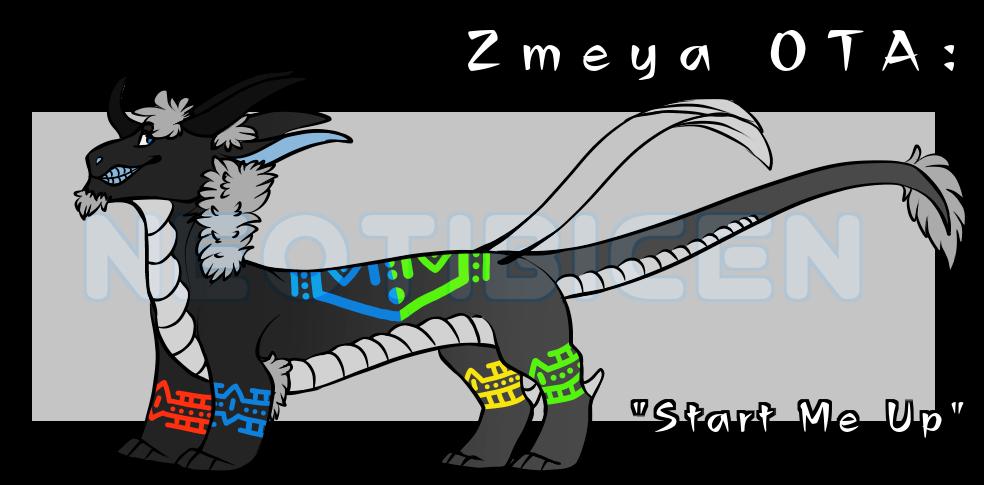 Zmeya OTA: Start Me Up (taken by STORMTEETH) by NE0-Adopts