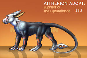 Aitherion Adopt: Warrior of the Wastelands SOLD by NE0-Adopts