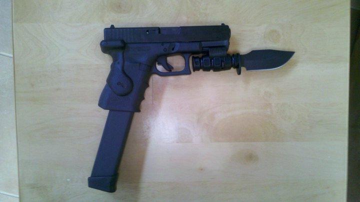 Zombie Slayer Pistol by NimblyOwl