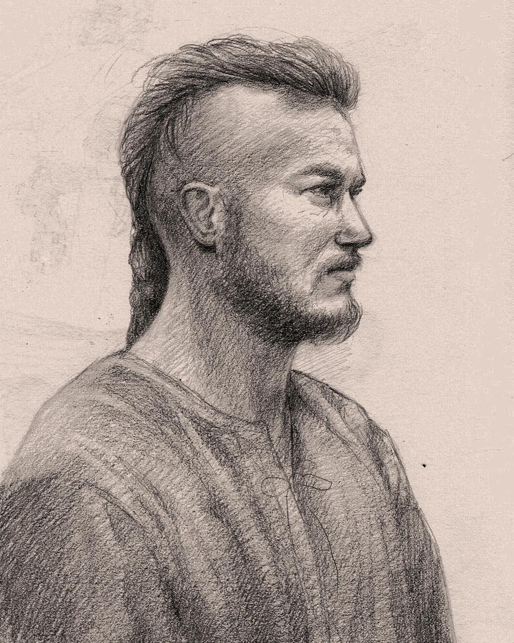 Ragnar Lothbrok Sketch By Nooko On DeviantArt