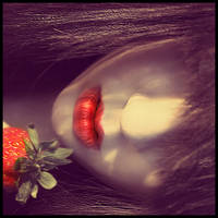 the girl behind red lips by JustHoldMe