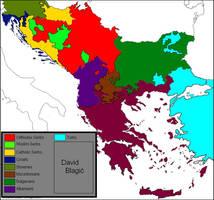 Ethnic map of the Balkan peninsula