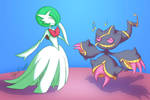 Gardevoir and Banette
