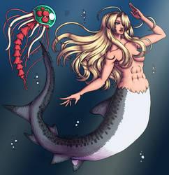 Samus Aran mermaid by xMrNothingx