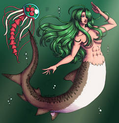 Samus Aran mermaid [Justin Bailey] by xMrNothingx