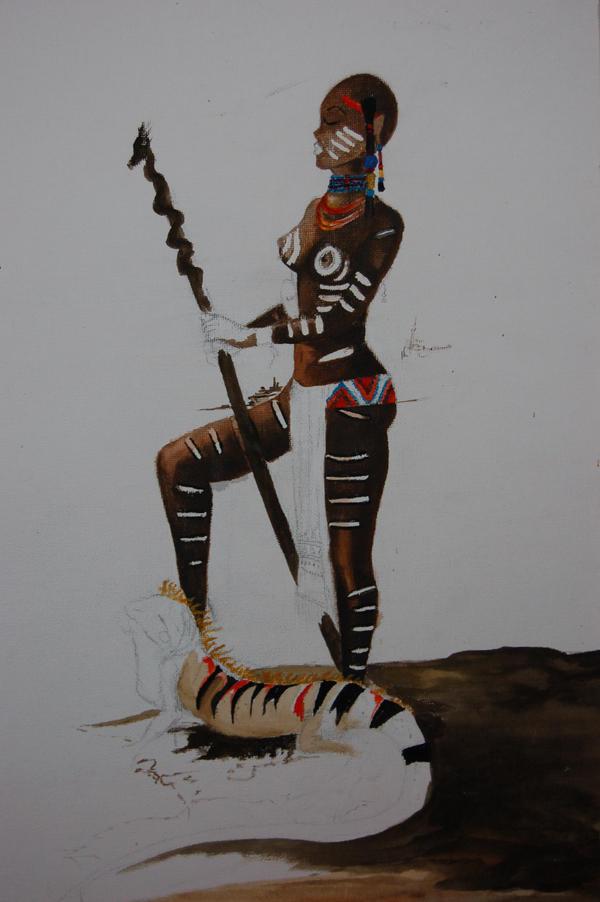 Female African Warrior By Lenwalt On Deviantart