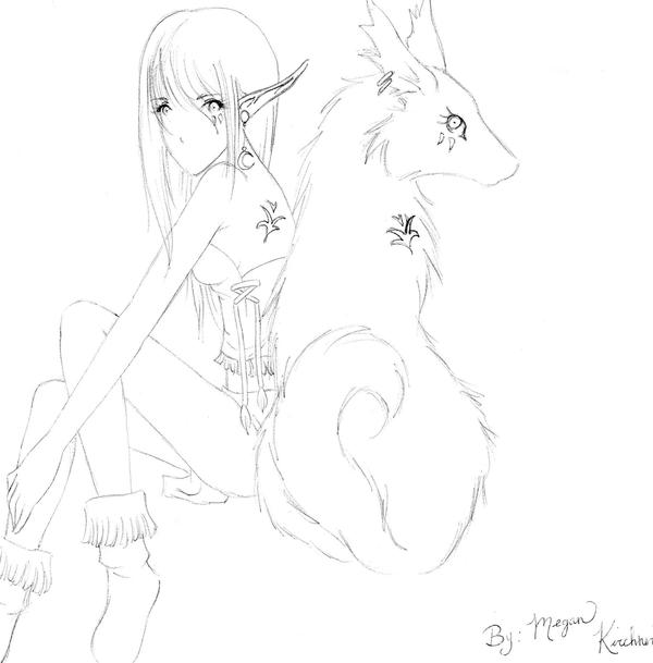Wolf girl by seandra on deviantart wolf girl by seandra ccuart Choice Image