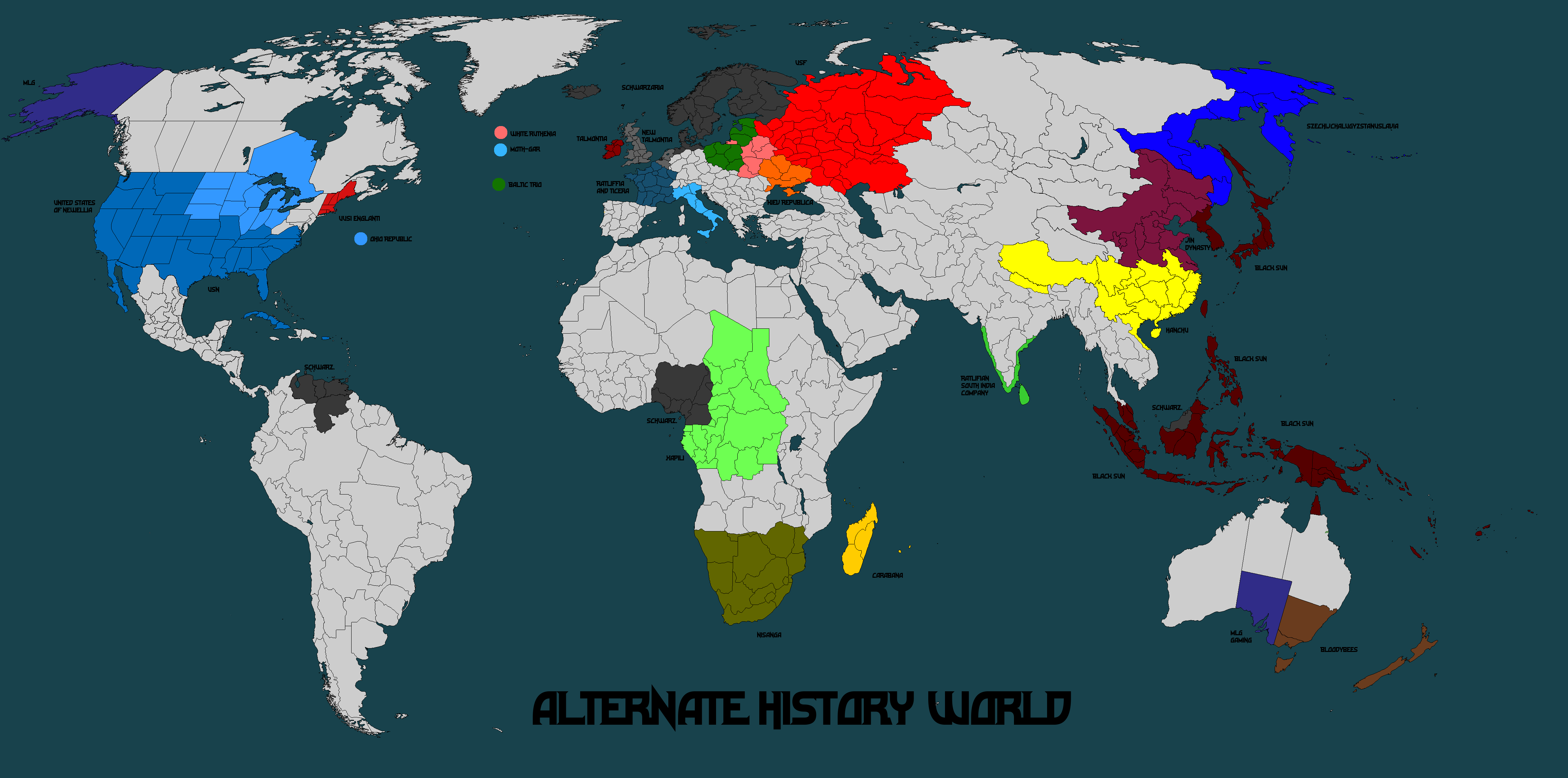 Alternate History World Map Mk8 Great Purge by Norbertus1757 on