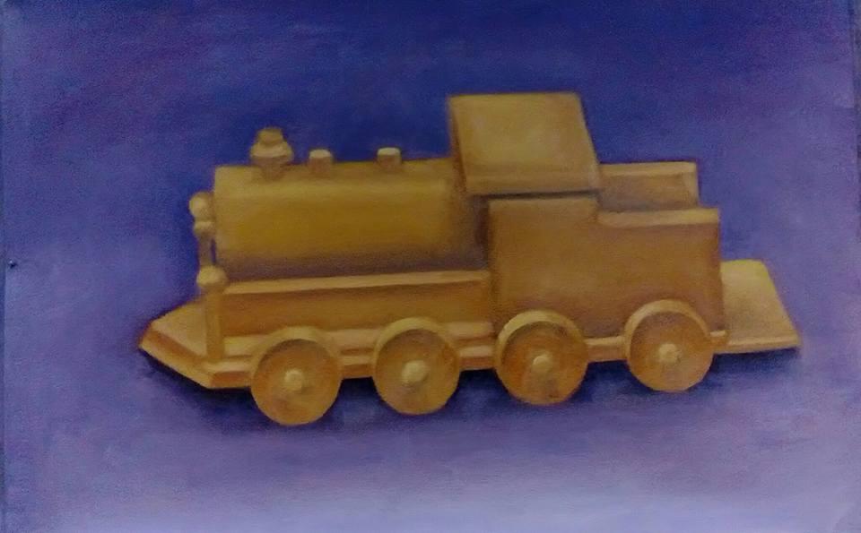 Wooden Train by jlnshark