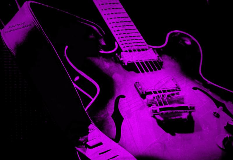 guitar blues pop purple by delade on deviantart