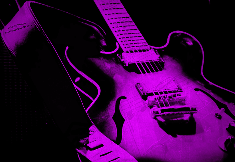 wallpaper music guitar pink - photo #21