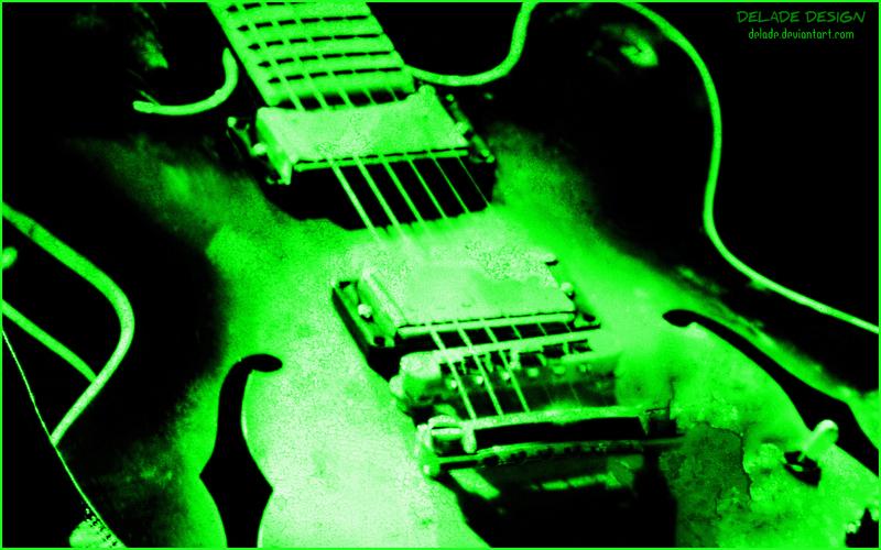 Neon Green Guitar Paint