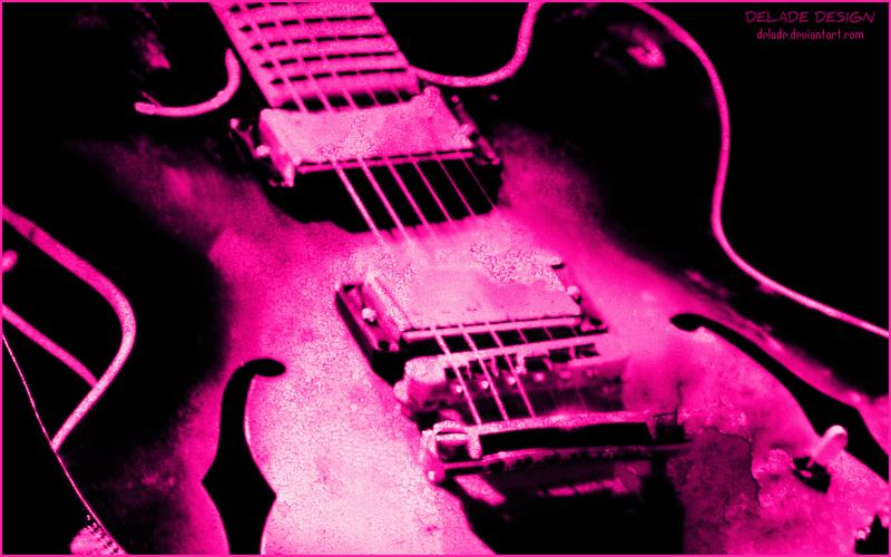 Wallpaper GUITAR GRUNGE Pink By Delade On DeviantArt
