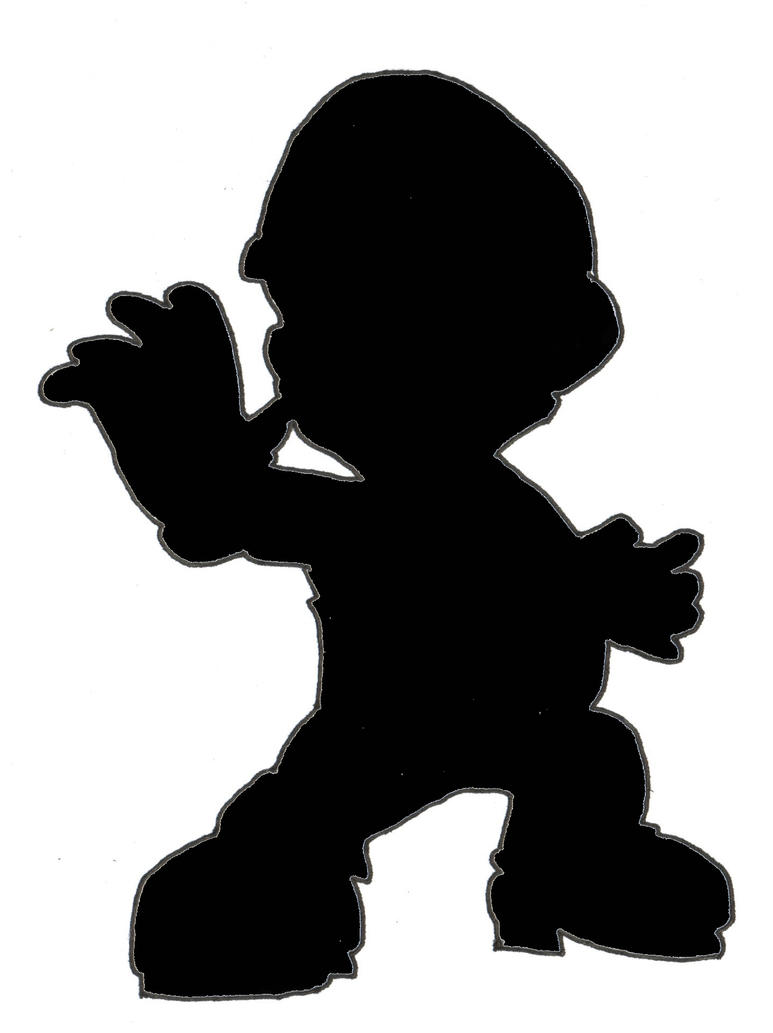 SSBB Silhouette Mario by Chaosky87 on DeviantArt
