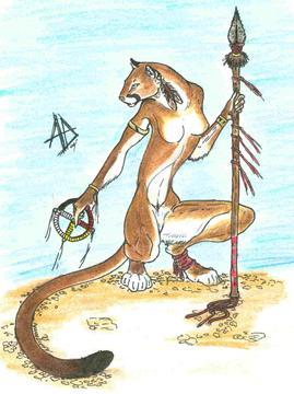 Puma With Medicine Wheel By Shiftyferret On Deviantart