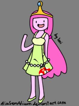 Princess Bubblegum-Ladybug dress by Rainnye