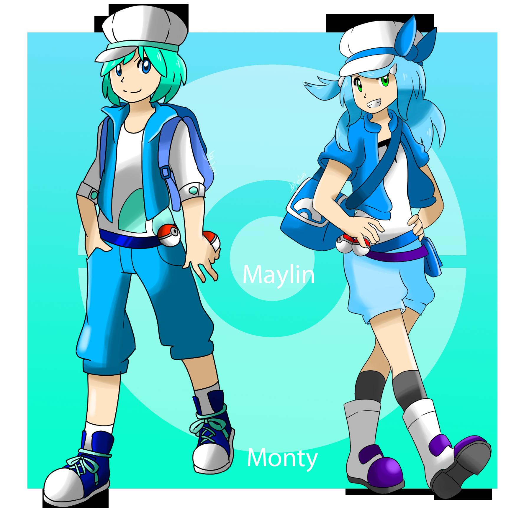 [Criação] NPC's para as Routes do RPG 2.0 Pokemon_trainers__monty_and_maylin_by_cacao_latte-d5uwbqq