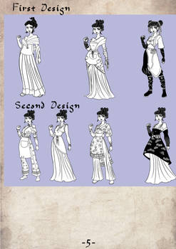 Yufei's Alternate outfit designs