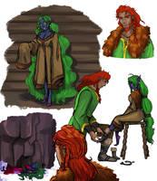 Magnus and mara sketchdump 1 by Pepperistia
