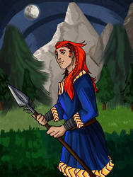 Red haired hunter