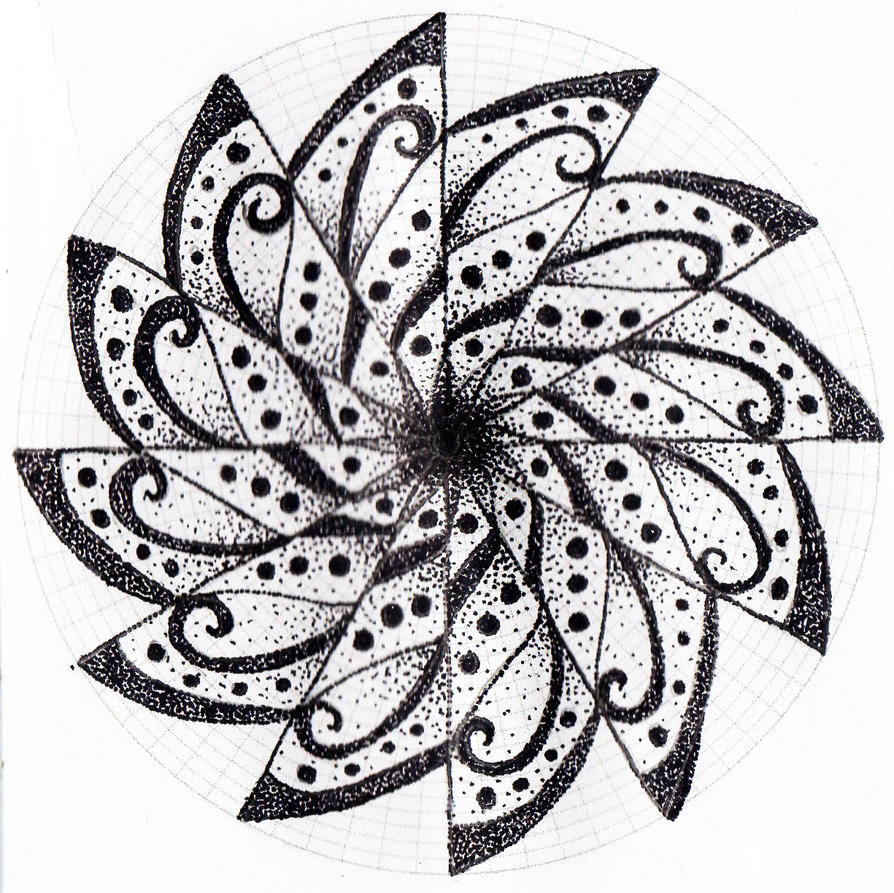 Mandala pontilhismo 2 by Rowbs