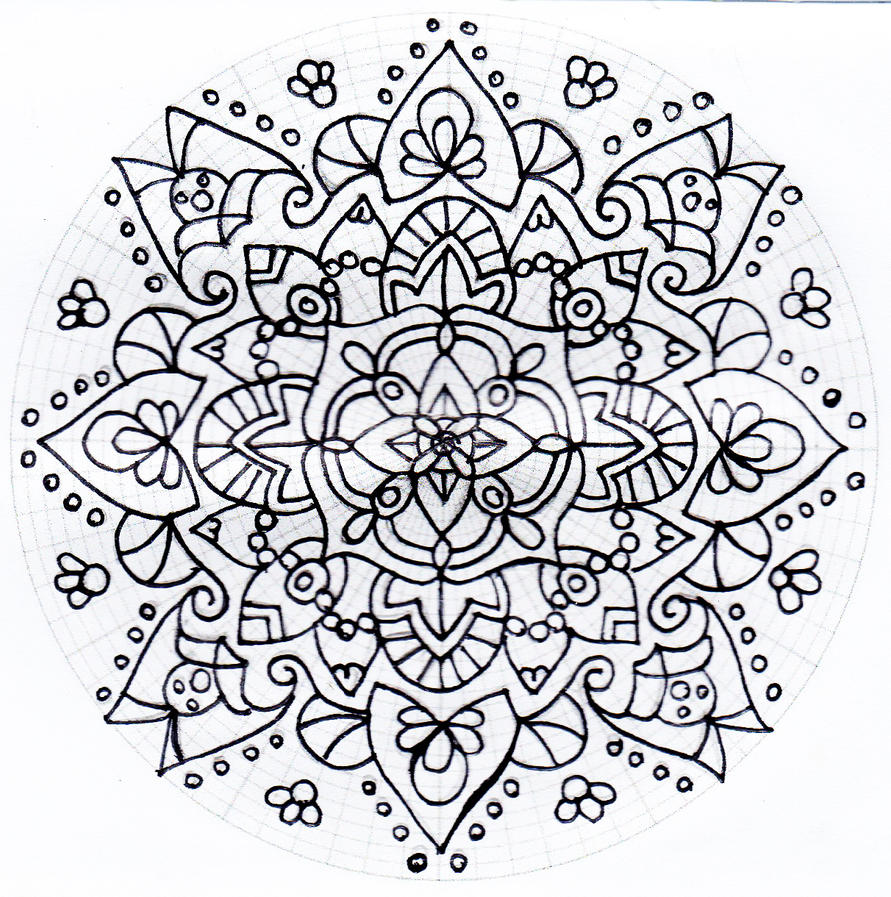 Untitled mandala 3 by Rowbs