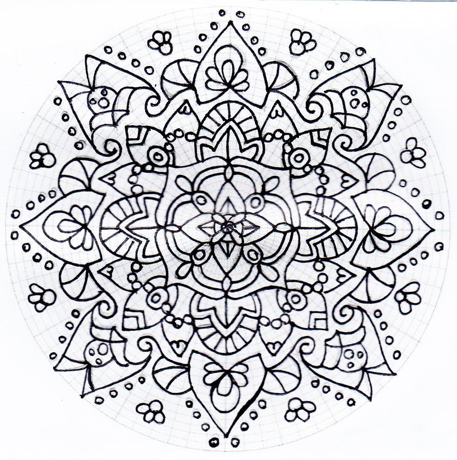 Untitled mandala 3 by Rowbs