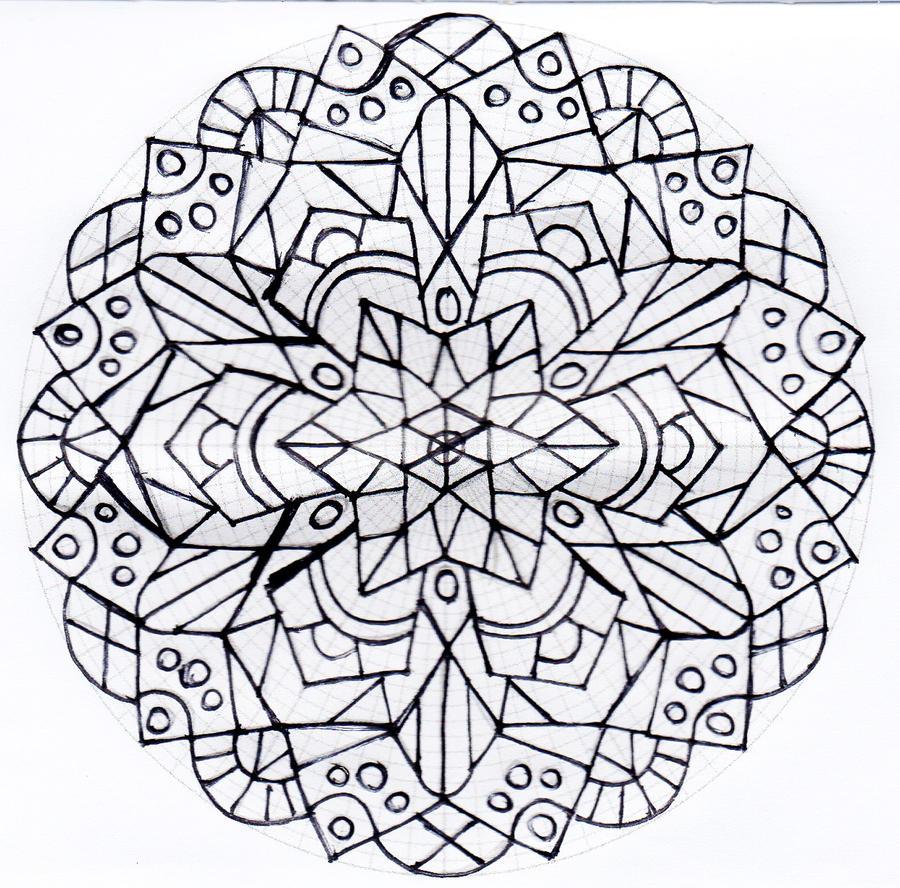 Untitled mandala 4 by Rowbs