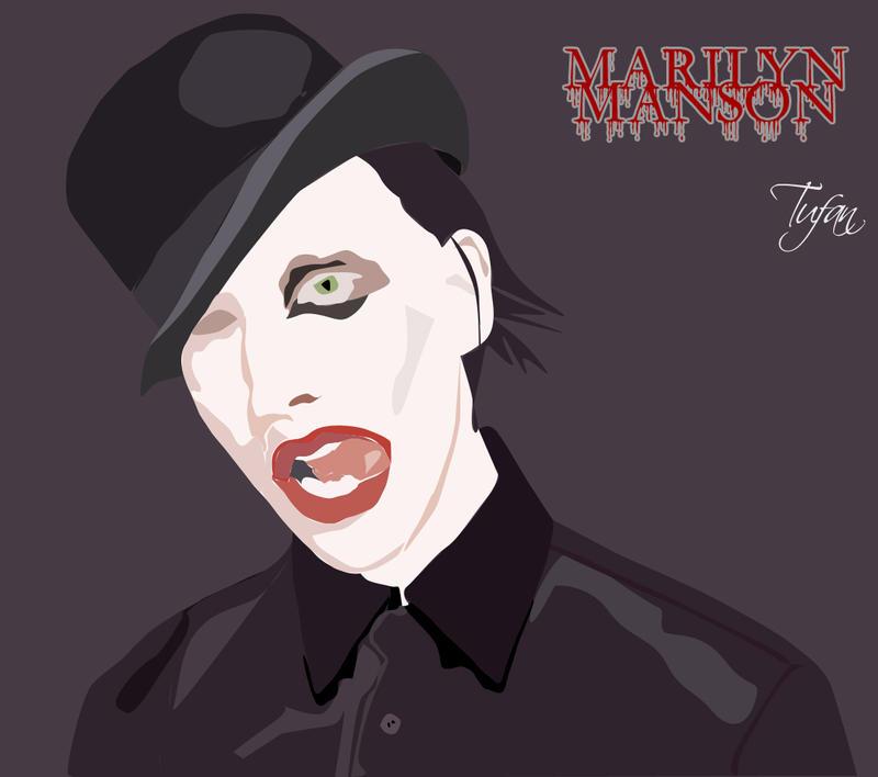 Marilyn Manson Vektör çalışması