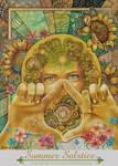 Pagan Sabbat, Litha Summer Solstice painting by bonny-hut