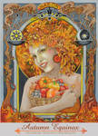 Pagan Sabbat Mabon, Autumn Equinox oil painting by bonny-hut