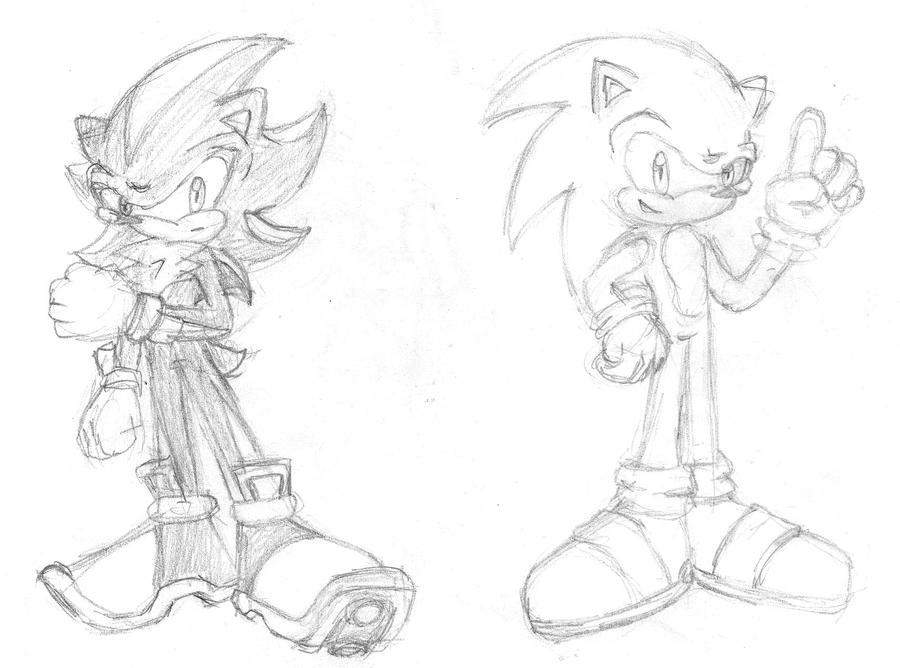 Simplemente Sonic y Shadow by YiggerTheWolf on DeviantArt