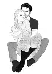 captain swan snuggles by satterm