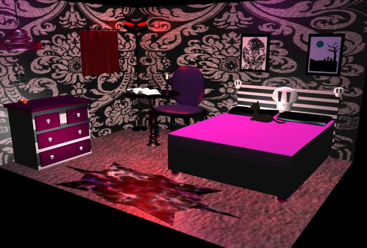 Goth Bedroom Modeling Project By Violetxrain ...
