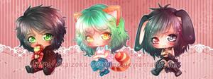 +C+ Chibi Batch 5 by Kaizoku-no-Yume