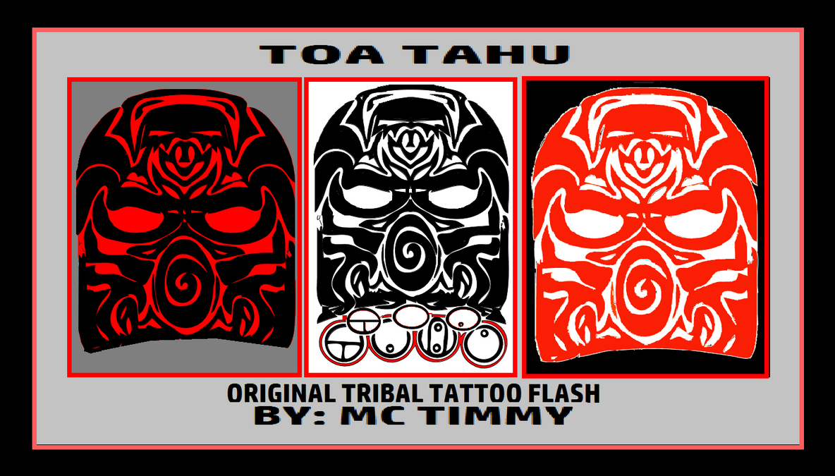 toa tahu tribal tattoo flash by timmywheeler on deviantart. Black Bedroom Furniture Sets. Home Design Ideas