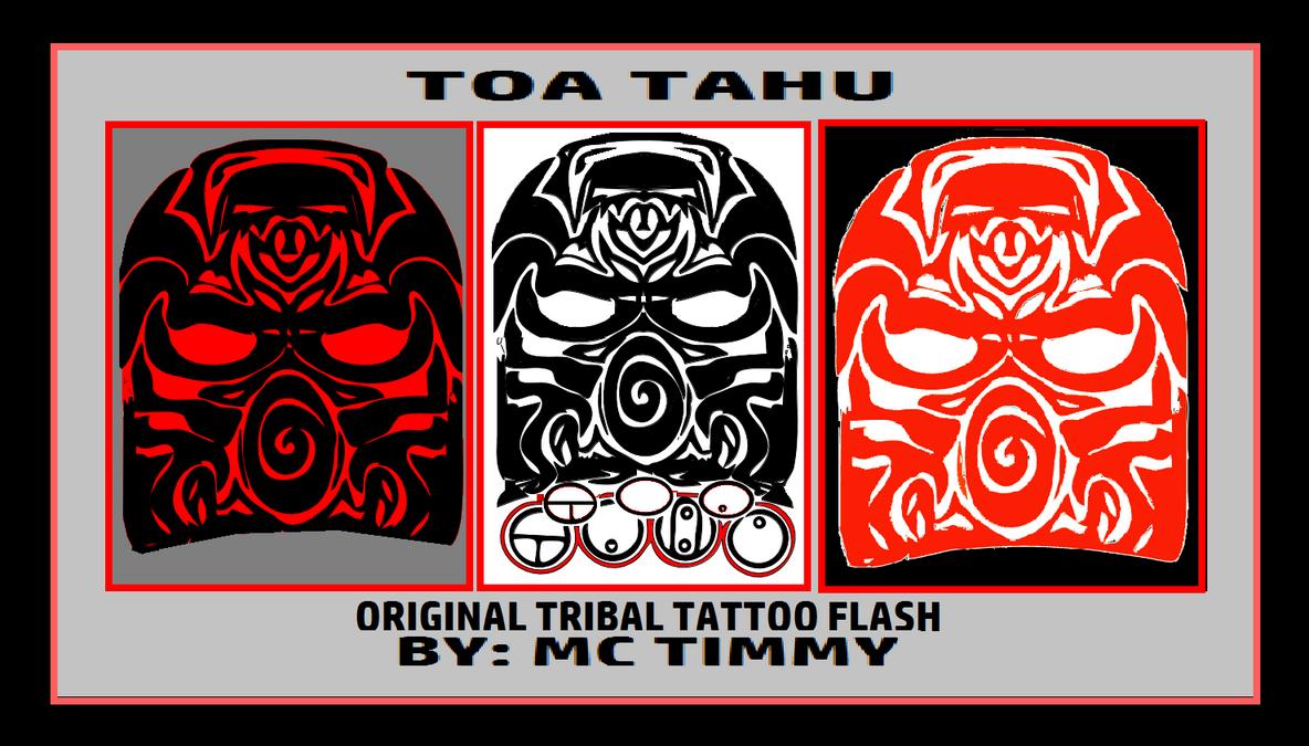 TOA TAHU TRIBAL TATTOO FLASH by timmywheeler
