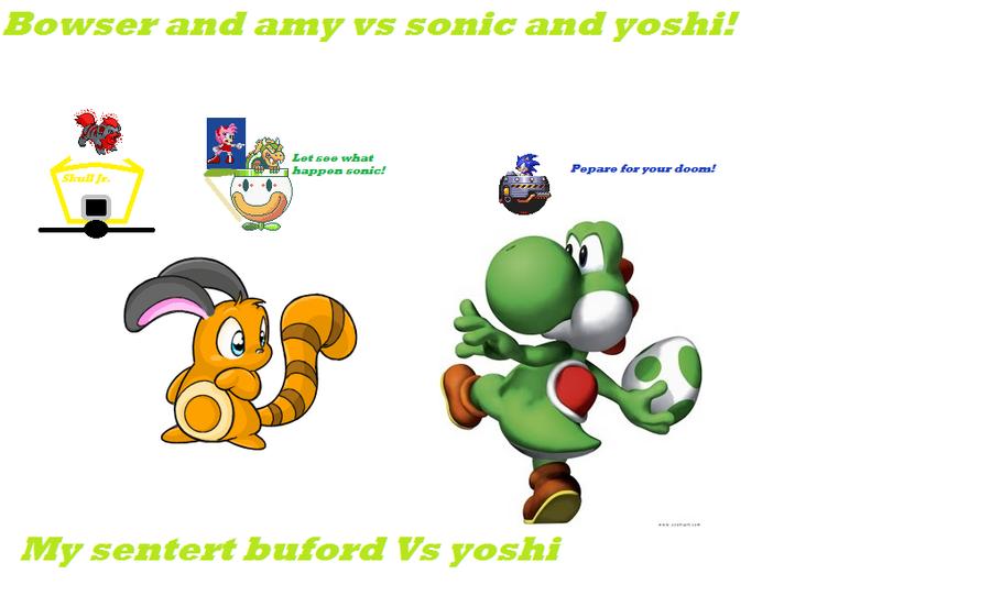 Bowser and amy vs sonic yoshi by KingPikachu558Yoshi Vs Baby Bowser
