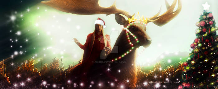 Thranduil wishes y'all a Merry Christmas
