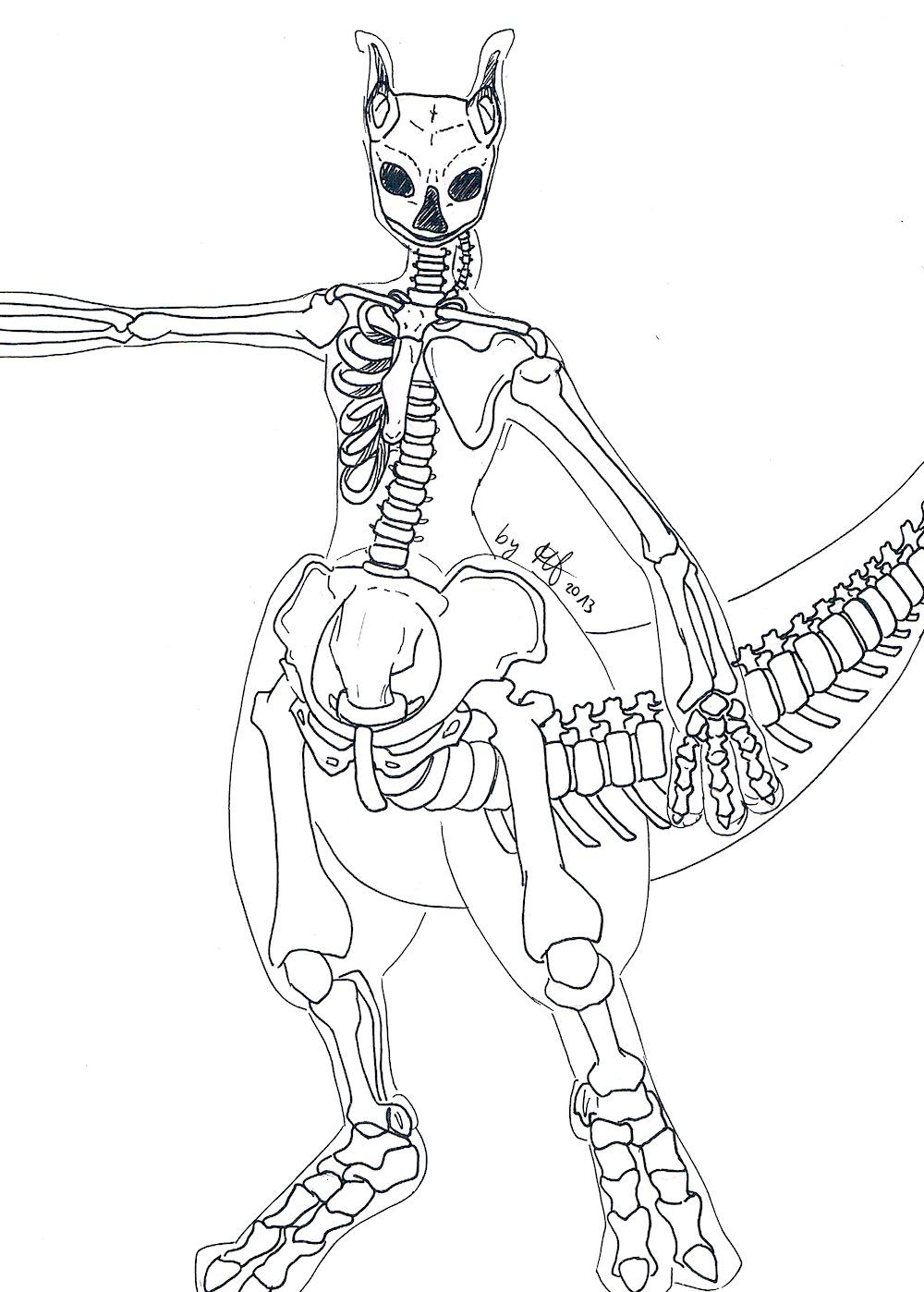 Mewtwo S Skeleton By Wasserwaldnymphe On Deviantart
