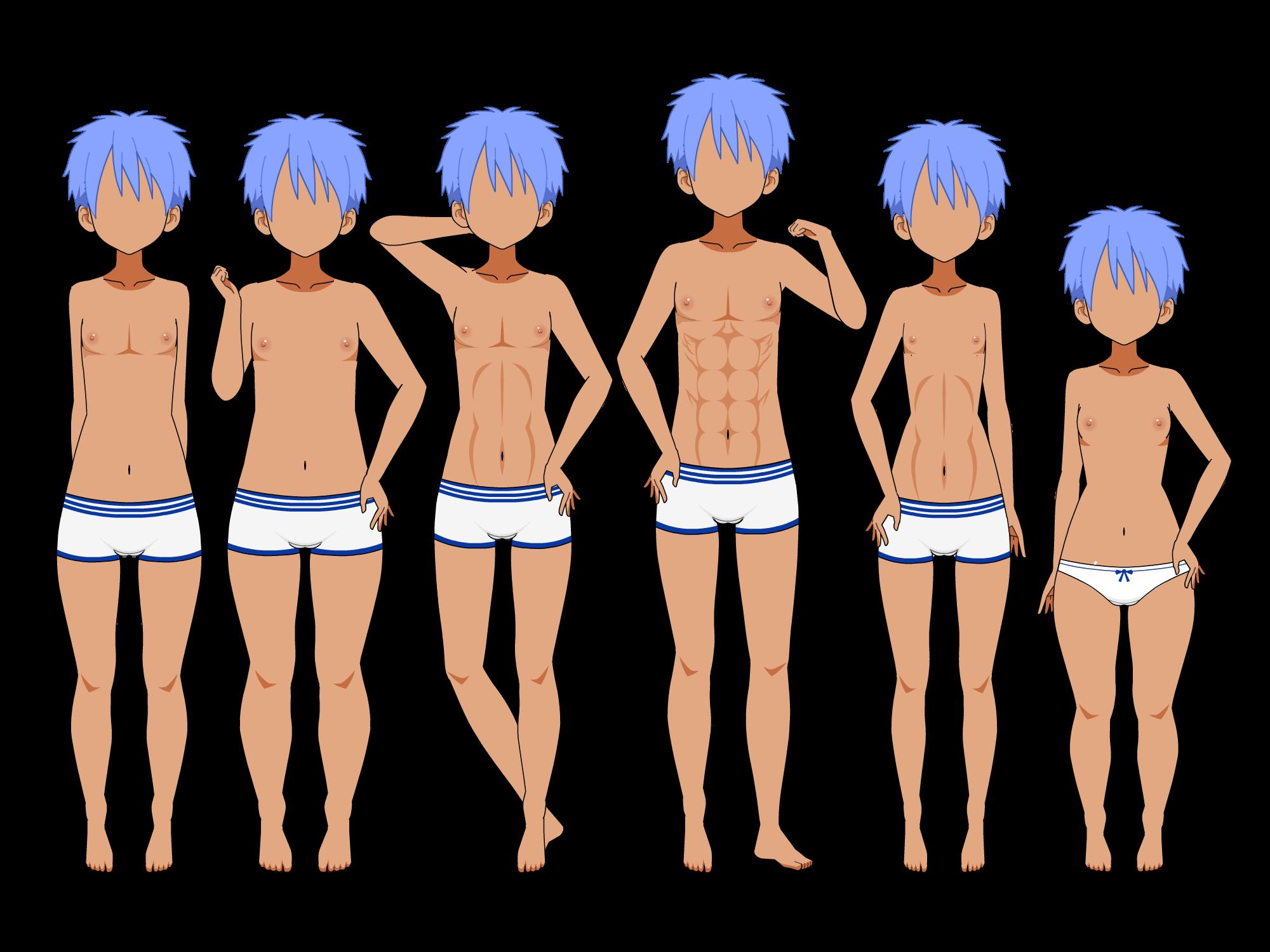 Male Body Types by XxKomori-EmpressxX on DeviantArt