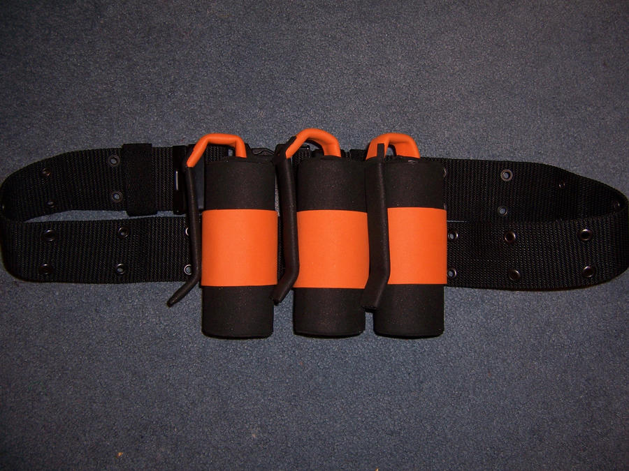 Pyro grenades on belt by MasqueradeLover