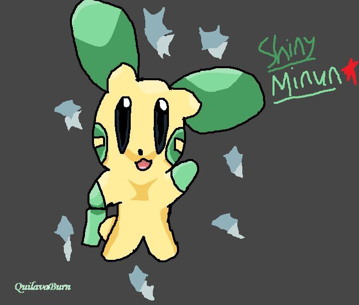 Shiny Minun by QuilavaBurn