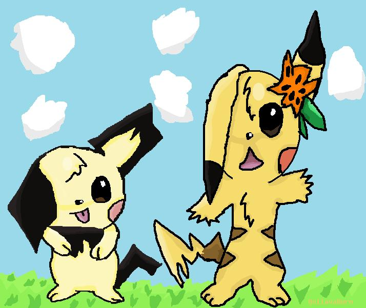 Pikachu And Pichu by QuilavaBurn