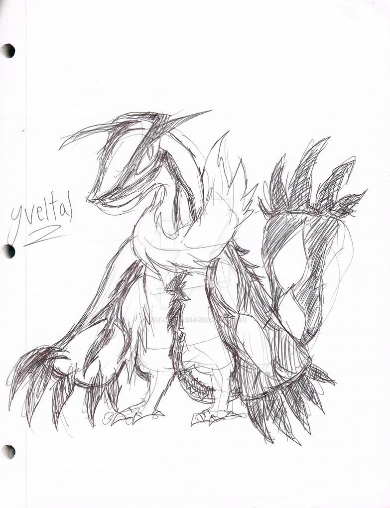 Yveltal Sketch by QuilavaBurn