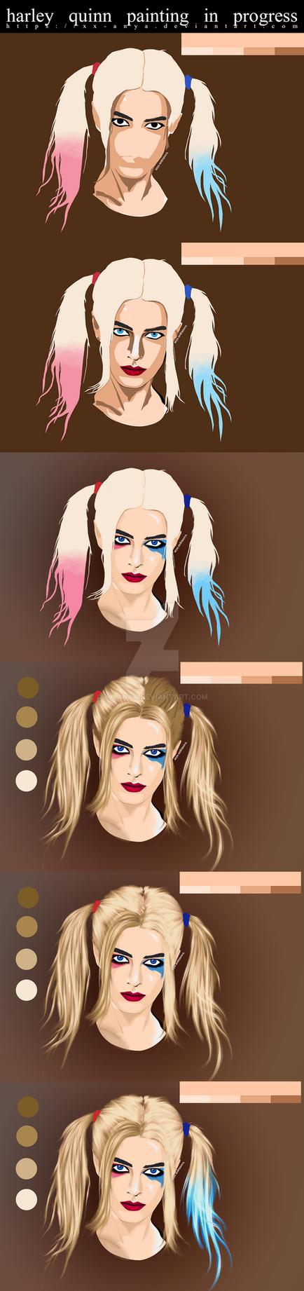Harley Quinn, In Progress by xx-Anya